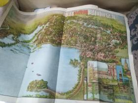 北京颐和园、万寿山导游地图(1954年版)