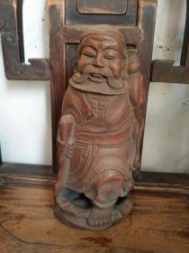 《清代 竹雕铁拐李站像》高28厘米,宽12厘米!雕刻精细!