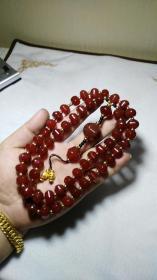 下乡收的老货【旧物换钱】藏饰雅玩 正宗樱桃红玛瑙珠项链