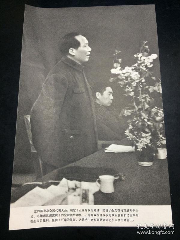 宣传画 , 《毛主席和周恩来同志在大会主席台上》