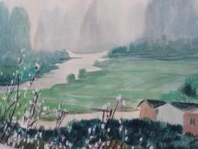 (包真)有签名水彩画~桂林山水系列63*49厘米17号