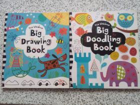 The Usborne Big Doodling Book + The Usborne Big Drawing Book  两本合售