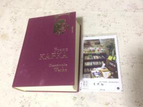 德文原版   Franz Kafka Gesammelte Werke 弗朗茨卡夫作品集【存于溪木素年书店】