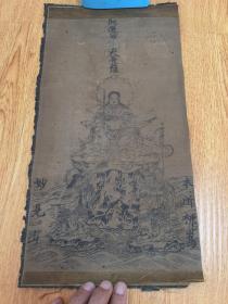 清代日本木版印刷佛画《开运妙见大菩萨》