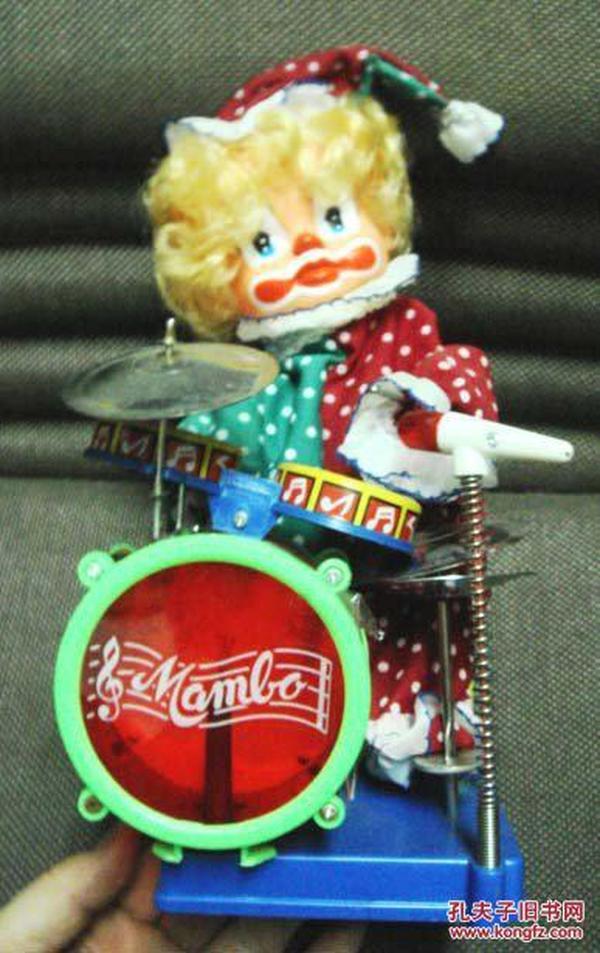早期台湾制铁皮玩具:小丑打鼓