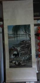 早期织绣画挂轴【52.3*139CM】:郎世宁 马