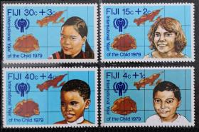 斐济1979年  国际儿童年、各族儿童  4全新 实拍