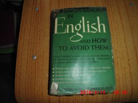 Common Errors in English and How to Avoid Them. (英文辩正  1945年原版)