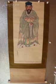 .文人雅士清末民国字画回流,绢本国画80*50厘米高。画得很有灵气,保证纯手绘 绝对无印刷