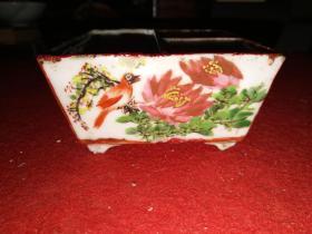 清末粉彩花鸟纹文房瓷器——色彩揪心的漂亮