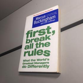 First, Break All the Rules 英文原版: 首先打破所有规则 【正版现货 实图拍摄 看图下单】