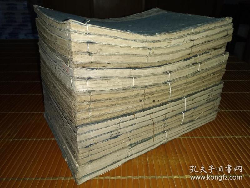 低价出售清初和刻大开本汉文佛经20厚册。。