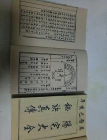万历刻本,阳宅大全真传秘诀,一函四册6卷全