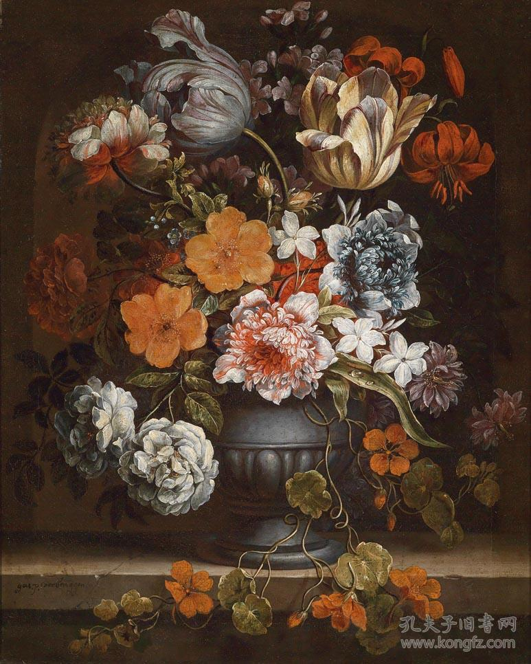 古典油画静物