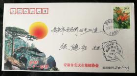 趣味封:2000年新邮预订纪念戳(安庆集邮协会,实寄,非首日)
