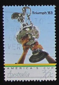 澳大利亚邮票----美洲杯(信销票)