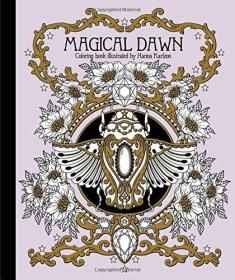 Hanna Karlzon 魔法主题着色书填色本Magical Dawn Coloring Book