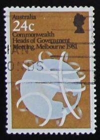 澳大利亚邮票-----英联邦政府首脑会议墨尔本会议(信销票)