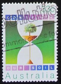 澳大利亚邮票----我们的土壤(信销票)