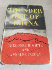 Thunder Out of China   1946年初版, 白修德《中国惊雷》民国旧书 精装+护封