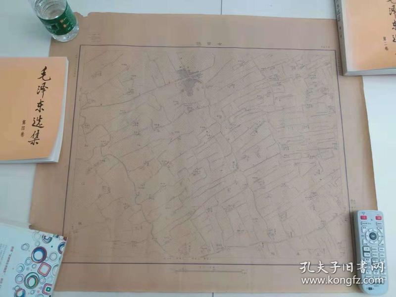 稀见民国36年上海市郊地图《七宝镇》