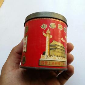 中华牌香烟 50枝装 铁皮圆筒烟盒【国营上海烟草工业公司出品 50年代】