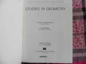 Studies in Geometry    布面精装原版