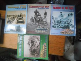 PANZERS IN THE EAST THE YEARS OF AGGRESSION1941-1943 (1) (2)  1943 - 1945 + PANZERWAFFE AT WAR 1 \2【4本和售】