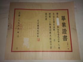 1955年北京医学院毕业证