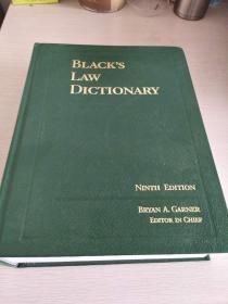 美国进口原装辞典 Black`s Law Dictionary (ninth edition) 布莱克法律词典 第9版  精装本,全新!