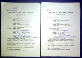 21011477 佛教史专家杜继文 南京大学中国思想家研究中心傅新毅合同书2份