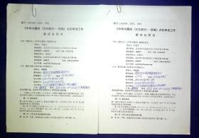 21011480 佛教史专家杜继文 南京大学中国思想家研究中心傅新毅合同书2份
