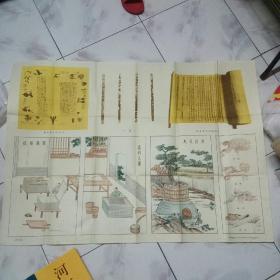 中国历史教学挂图 古代史部分 第一辑 造纸术的发明((61年6月1版4印,全开1幅)