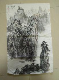 张三友山水画一幅 尺寸69*44cm 保真