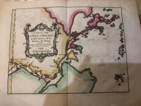 1750年左右 福州湾地图 极其珍贵难得