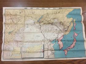 孔網孤本——西比利亞大全圖,尺幅大,80乘40