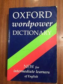库存未阅 无瑕疵  英国原装辞典 Oxford Wordpower Dictionary  牛津中阶英语学习词典