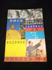 中国热点文学  (1989年第8期)