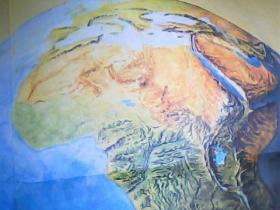初级中学课本世界地理教学挂图 东非裂谷带  2开
