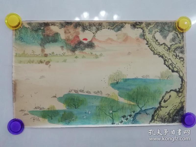 (包真)?签名水彩画~桂林山水系列63*49厘米18号