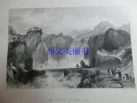 【现货 包邮】《金坛纤夫》1845年铜/钢版画 托马斯-阿罗姆 (Thomas Allom)作品 尺寸约26.2 × 20.5厘米 出自中华帝国图景(货号18021)