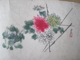 早期 齐白石木板水印画