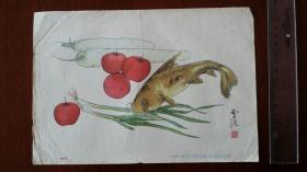 蔬果(四)、孙雪泥画、1957年一版二印