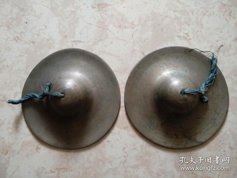 旧藏民国铜钹一对