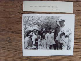 新华社老照片:【※ 1958年,朱德视察西安,和郊区农民亲切交谈※】