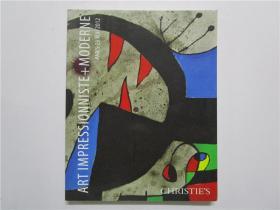 CHRISTIES ART IMPRESSIONNISTE+MODERNE 佳士得 2012年现代艺术拍卖