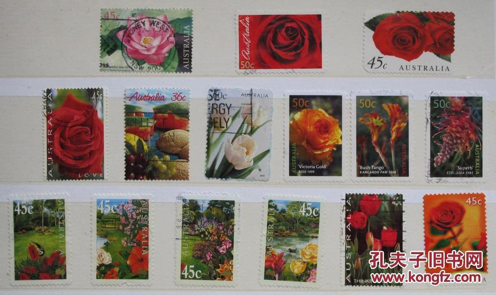 澳大利亚邮票-----花(信销票)