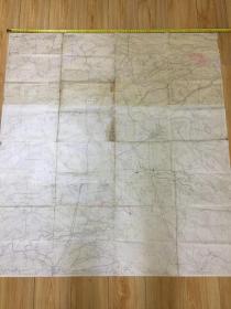 清晚期《台湾大地图》 日本统治台湾初期(1895-1902年间)发行,巨幅