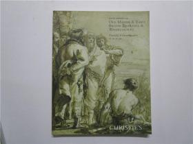 CHRISTIES SOUTH KENSINGTON OLD MASTER & EARLY BRITISH DRAWINGS &  WATERCOLOURS (佳士得2012年南肯辛顿老大师与早期英国绘画与水彩画)