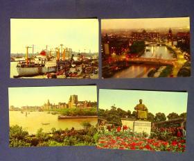 360010224明信片一套4张上海风景